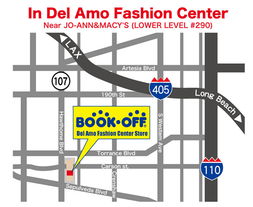 Del Amo Fashion Center Store|BOOKOFF GROUP HOLDINGS Del Amo Fashion Center Map on